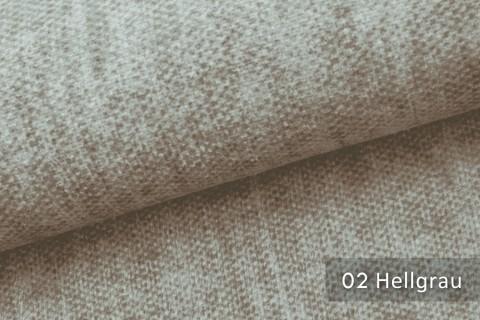 novely® MARLOW Möbelstoff, Velours, samtig weicher Polsterstoff | 02 Hellgrau