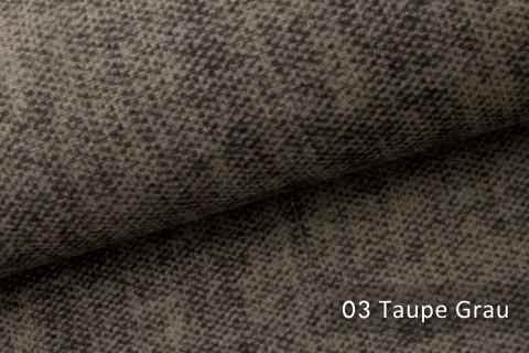 novely® MARLOW Möbelstoff, Velours, samtig weicher Polsterstoff | 03 Taupe Grau