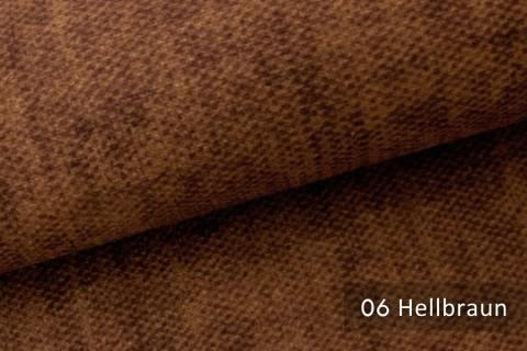 novely® MARLOW Möbelstoff, Velours, samtig weicher Polsterstoff | 06 Hellbraun