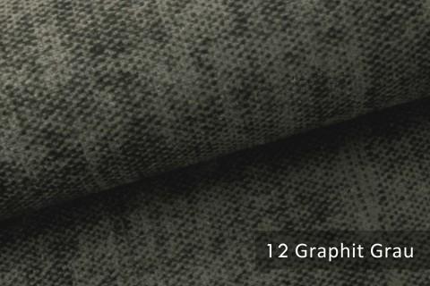 novely® MARLOW Möbelstoff, Velours, samtig weicher Polsterstoff | 12 Graphit Grau