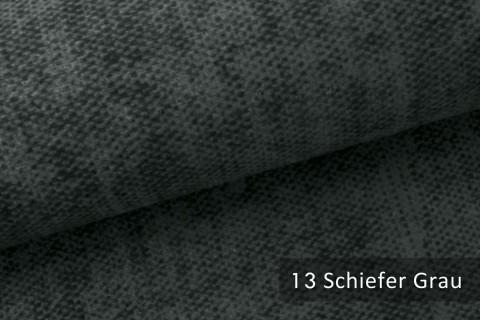 novely® MARLOW Möbelstoff, Velours, samtig weicher Polsterstoff | 13 Schiefer Grau