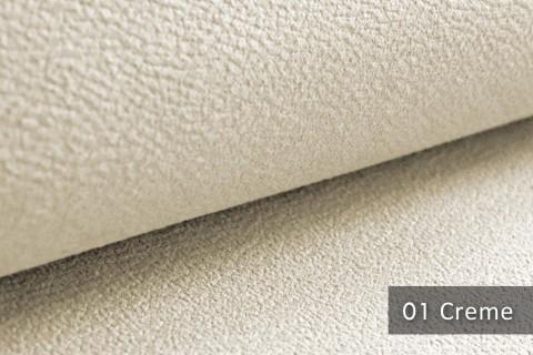 novely® exquisit MILANO - ultraweicher Polsterstoff in Echtleder-Optik, schwer entflammbar | 01 Creme