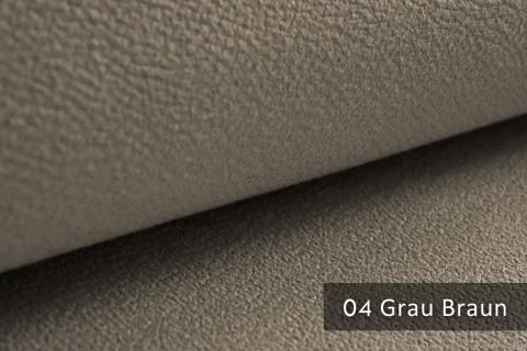 novely® exquisit MILANO - ultraweicher Polsterstoff in Echtleder-Optik, schwer entflammbar | 04 Grau Braun