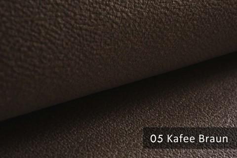 novely® exquisit MILANO - ultraweicher Polsterstoff in Echtleder-Optik, schwer entflammbar | 05 Kaffee Braun