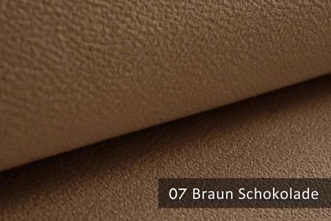 novely® exquisit MILANO - ultraweicher Polsterstoff in Echtleder-Optik, schwer entflammbar | 07 Braun Schokolade
