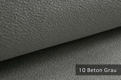 novely® exquisit MILANO - ultraweicher Polsterstoff in Echtleder-Optik, schwer entflammbar | 10 Beton Grau