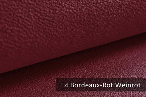 novely® exquisit MILANO - ultraweicher Polsterstoff in Echtleder-Optik, schwer entflammbar | 14 Bordeaux Rot