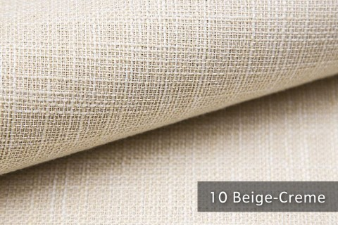 novely® MIROW Webstoff | Polsterstoff | Farbe 10 Beige Creme