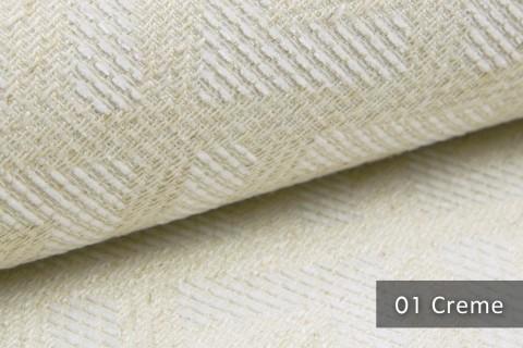 novely® MISINTO Design-Polsterstoff | 3D Leinenstruktur | schwer entflammbar | 01 Creme