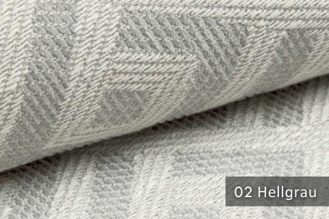 novely® exquisit MISINTO - Design-Polsterstoff mit Leinenstruktur, schwer entflammbar | 02 Hellgrau