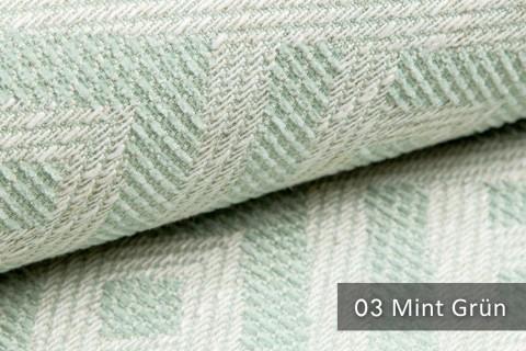 novely® MISINTO Design-Polsterstoff | 3D Leinenstruktur | schwer entflammbar | 03 Mint Grün