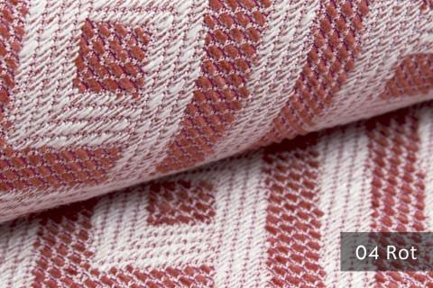 novely® exquisit MISINTO - Design-Polsterstoff mit Leinenstruktur, schwer entflammbar | 04 Rot