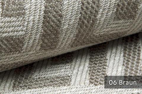 novely® exquisit MISINTO - Design-Polsterstoff mit Leinenstruktur, schwer entflammbar | 06 Braun