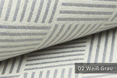novely® exquisit MODENA - Möbelstoff mit Leinen, geometrisches Muster, schwer entflammbar | 02 Creme Grau
