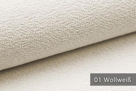novely® MOERS - feiner Bouclé Polsterstoff Möbelstoff außergewöhnliche Optik | 01 Wollweiß