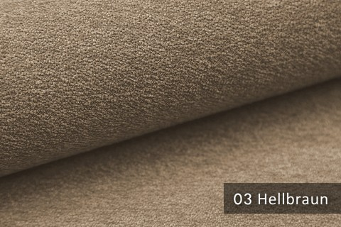 novely® MOERS - feiner Bouclé Polsterstoff Möbelstoff außergewöhnliche Optik | 03 Hellbraun