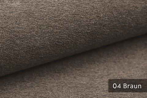 novely® MOERS - feiner Bouclé Polsterstoff Möbelstoff außergewöhnliche Optik | 04 Braun