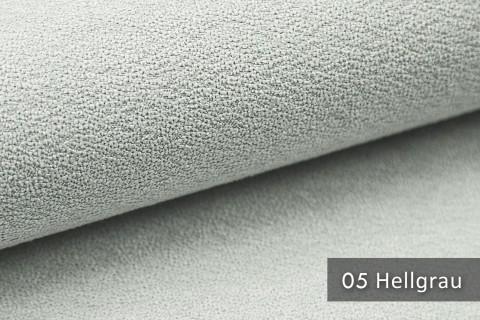 novely® MOERS - feiner Bouclé Polsterstoff Möbelstoff außergewöhnliche Optik | 05 Hellgrau