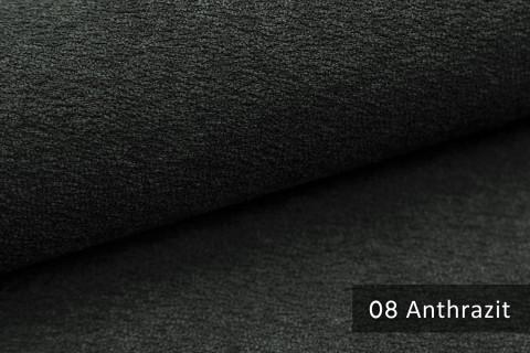 novely® MOERS - feiner Bouclé Polsterstoff Möbelstoff außergewöhnliche Optik | 08 Anthrazit