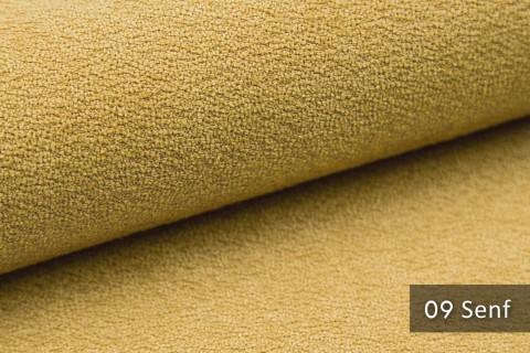 novely® MOERS - feiner Bouclé Polsterstoff Möbelstoff außergewöhnliche Optik | 09 Senf