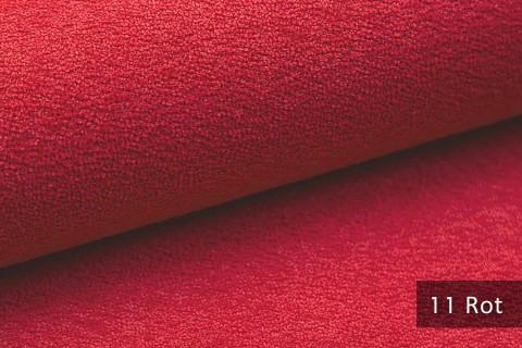 novely® MOERS - feiner Bouclé Polsterstoff Möbelstoff außergewöhnliche Optik | 11 Rot