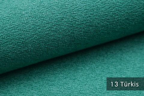 novely® MOERS - feiner Bouclé Polsterstoff Möbelstoff außergewöhnliche Optik | 13 Türkis