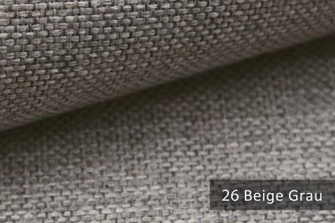 novely® MUDAU Möbelstoff | Polsterstoff | Farbe 26 Grau Beige