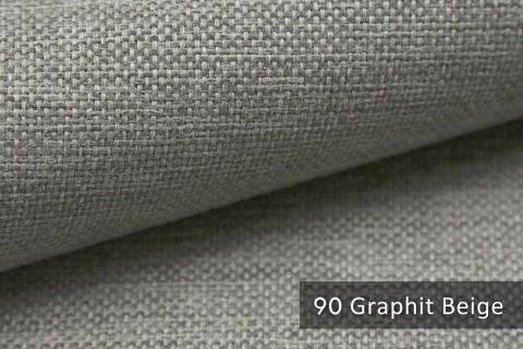 novely® MUDAU Möbelstoff | Polsterstoff | Farbe 90 Graphit Beige