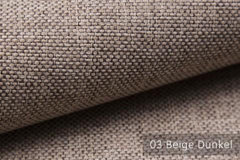 novely® MUDAU Möbelstoff | Polsterstoff | Farbe 03 Beige Dunkel