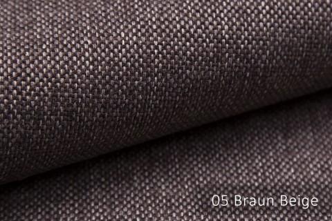 novely® MUDAU Möbelstoff | Polsterstoff | Farbe 05 Braun Beige
