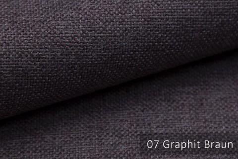 novely® MUDAU Möbelstoff | Polsterstoff | Farbe 07 Graphit Braun