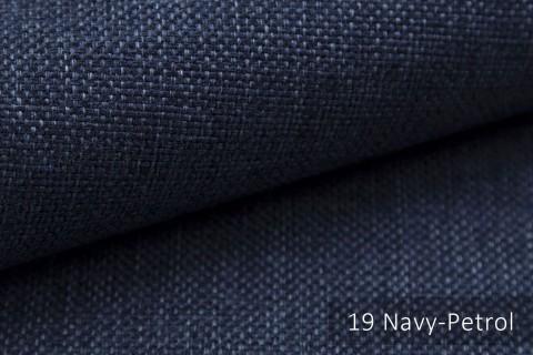 novely® MUDAU Möbelstoff | Polsterstoff | Farbe 19 Navy Petrol