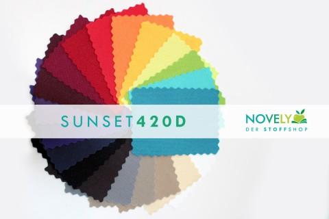 novely® SUNSET 420D Polyester Stoff | UV-beständig | Musterset