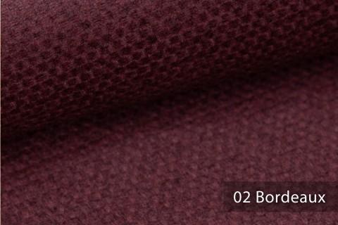novely® NASSAU – Samtweicher Polsterstoff mit Wabenstruktur in Woll-Optik | 02 Bordeaux
