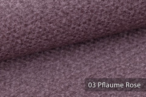 novely® NASSAU – Samtweicher Polsterstoff mit Wabenstruktur in Woll-Optik | 03 Pflaume Rose