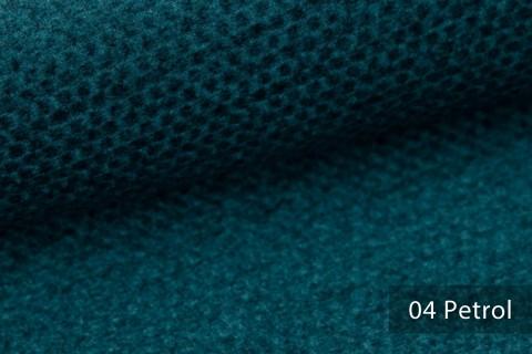 novely® NASSAU – Samtweicher Polsterstoff mit Wabenstruktur in Woll-Optik | 04 Petrol