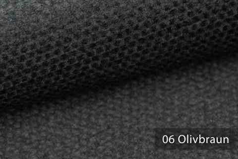 novely® NASSAU – Samtweicher Polsterstoff mit Wabenstruktur in Woll-Optik | 06 Olivbraun