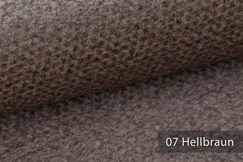 novely® NASSAU – Samtweicher Polsterstoff mit Wabenstruktur in Woll-Optik | 07 Hellbraun