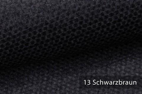 novely® NASSAU – Samtweicher Polsterstoff mit Wabenstruktur in Woll-Optik | 13 Schwarzbraun