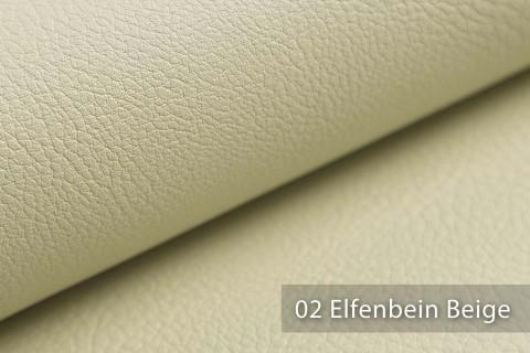 novely® NEUSS - genarbtes Kunstleder matt Möbelstoff Bezugsstoff Polsterstoff PU | Farbe 02 Elfenbein Beige
