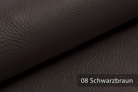 novely® NEUSS - genarbtes Kunstleder matt Möbelstoff Bezugsstoff Polsterstoff PU | Farbe 08 Schwarzbraun