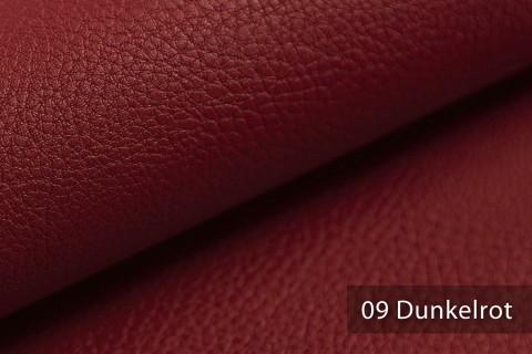 novely® NEUSS - genarbtes Kunstleder matt Möbelstoff Bezugsstoff Polsterstoff PU | Farbe 09 Dunkelrot