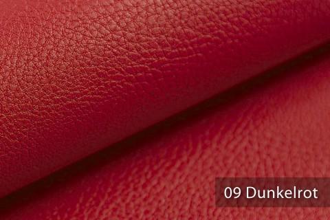 novely® NEUSS – genarbtes Kunstleder aus PU (Polyurethan) in 9 Farben   Farbe 09 Dunkelrot