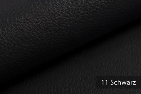 novely® NEUSS - genarbtes Kunstleder matt Möbelstoff Bezugsstoff Polsterstoff PU | Farbe 11 Schwarz