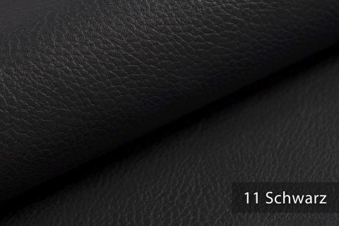 novely® NEUSS – genarbtes Kunstleder aus PU (Polyurethan) in 9 Farben   Farbe 11 Schwarz