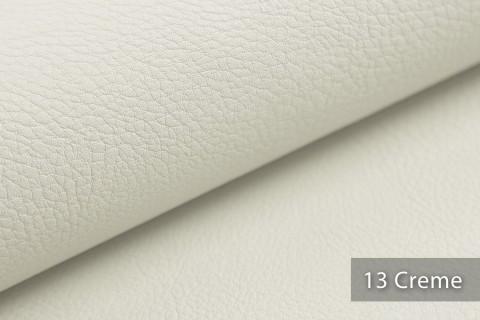 novely® NEUSS – genarbtes Kunstleder aus PU (Polyurethan) in 9 Farben   Farbe 13 Creme