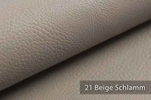 novely® NEUSS - genarbtes Kunstleder matt Möbelstoff Bezugsstoff Polsterstoff PU | Farbe 21 Beige Schlamm