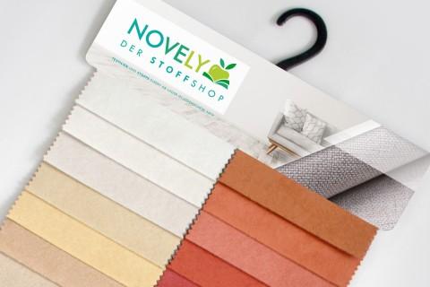 novely® ALPEN | Microfaser in Wildleder Look | Polsterstoff  | Muster-Farbfächer