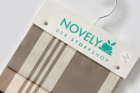 novely® ARAGON DUO CORDOBA | Premium Outdoor Stoff | 100% dralon® | Baumwoll-Optik | lichtecht | UV beständig | Muster-Farbfächer