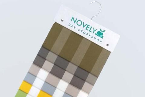 novely®  ARAGON DUO LLORET   Premium Outdoor Stoff   100% dralon®   Baumwoll-Optik   lichtecht   UV beständig   Muster-Farbfächer